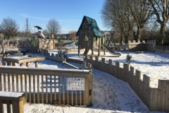 Meadowbank Playground in Snow